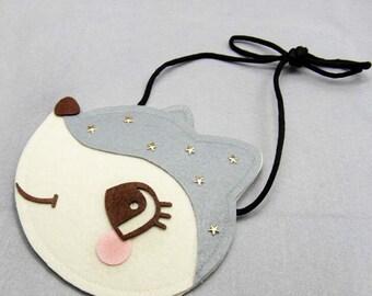 Handmade Kids Felt Squirrel Bag/Animal Handbag/Toddler Coin Purse/Children's Wallet/Gift Bag-- Ready to ship