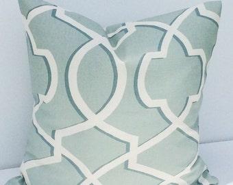 Pillow Cover 20x20 Saffron Gray and Macon Morrow Print Pillow Cover  Throw Pillow Cover