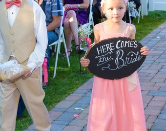 Here comes the Bride Chalk Board Signs