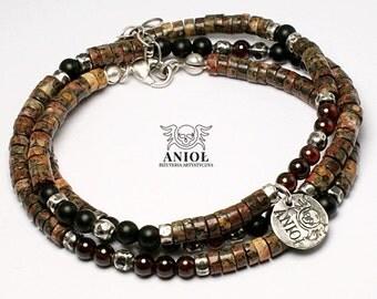 NOMAD - Etno - Tribal Jewelry, 100% Sterling Silver Bracelet -  Men Jewelry