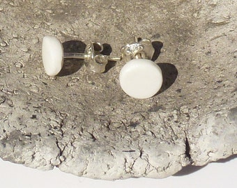 Porcelain studs little white round