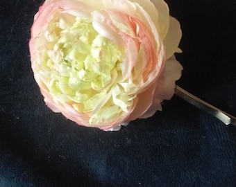 Light Pink Peony Hair pin