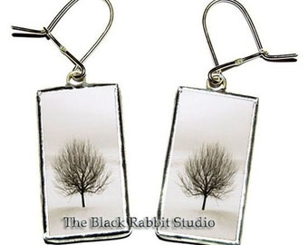 Winter Tree Earrings, Tree jewelry, Winter Tree Jewelry, Hypoallergenic Earrings for Sensitive Ears