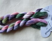 122 - Amboseli, Fils à Soso hand dyed variegated stranded cotton 8 metre skein.  6 strand cotton.  Cross stitch yarn. Overdyed floss.