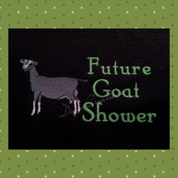 Goat t-shirt - Future goat shower custom embroidered shirt - Dairy show goat t-shirt