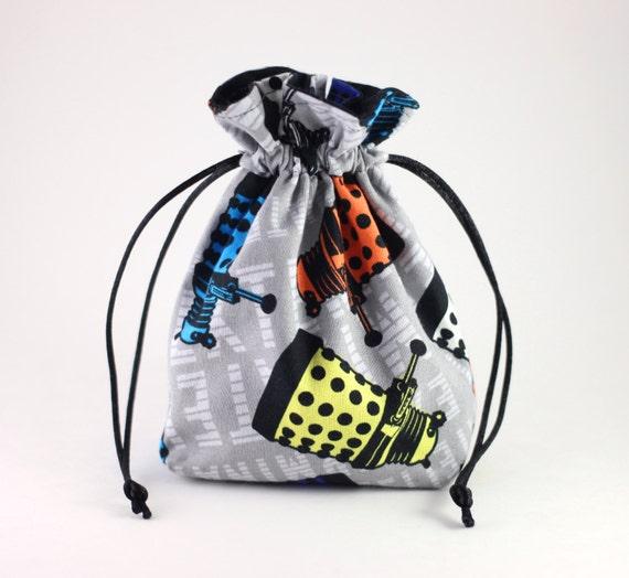 SALE Dalek Exterminate Drawstring Bag, Dice Bag