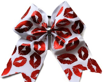 Cheer Bow Red Lips
