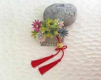 Kanzashi comb Japanese hair accessories TKSCT003