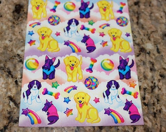 Vintage Lisa Frank Dog Stickers S243