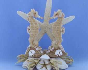 Seahorse Cake Topper/ Beach Themed/ Destination Wedding