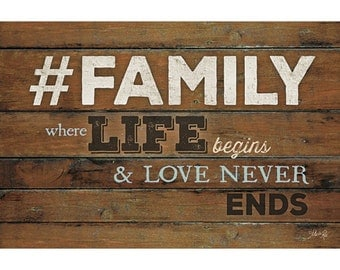 MA1198 - #FAMILY - Where Life Begins - 18 x 12