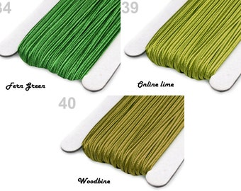 SOUTACHE BRAID SALE 3mm For Jewelry Making Mixture Mix 6m