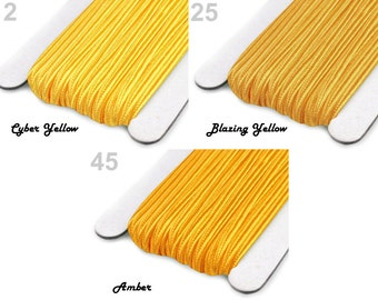SOUTACHE BRAID SALE Yellow 3mm For Jewelry Making Mix Mixture 6m