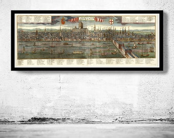 Old View of London , England United Kingdom 1780