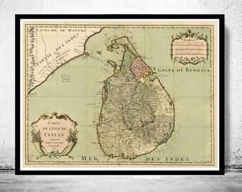 Old Map of Sri Lanka, Old Ceylon 1700