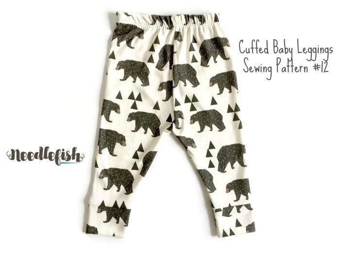 BABY LEGGINGS w/ CUFFS Sewing Pattern Baby Leggings Sewing