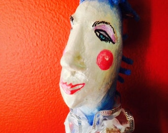 "Art Doll Birthday gift Christmas GIft Gift for Woman Collectible Outsider Art Folk Fantasy ""Prince of Sleep"""