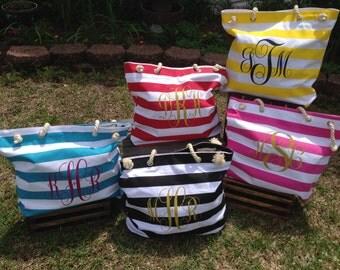 Canvas Monogrammed Beach Bags