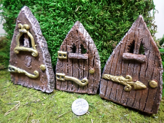 Fairy garden doors miniature gardening enchanted by for Miniature fairy garden doors