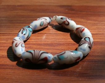 Hand Painted Heart Bracelet
