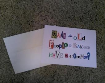 Birthday card for the elderly