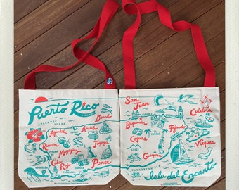 Puerto Rico Messenger Tote