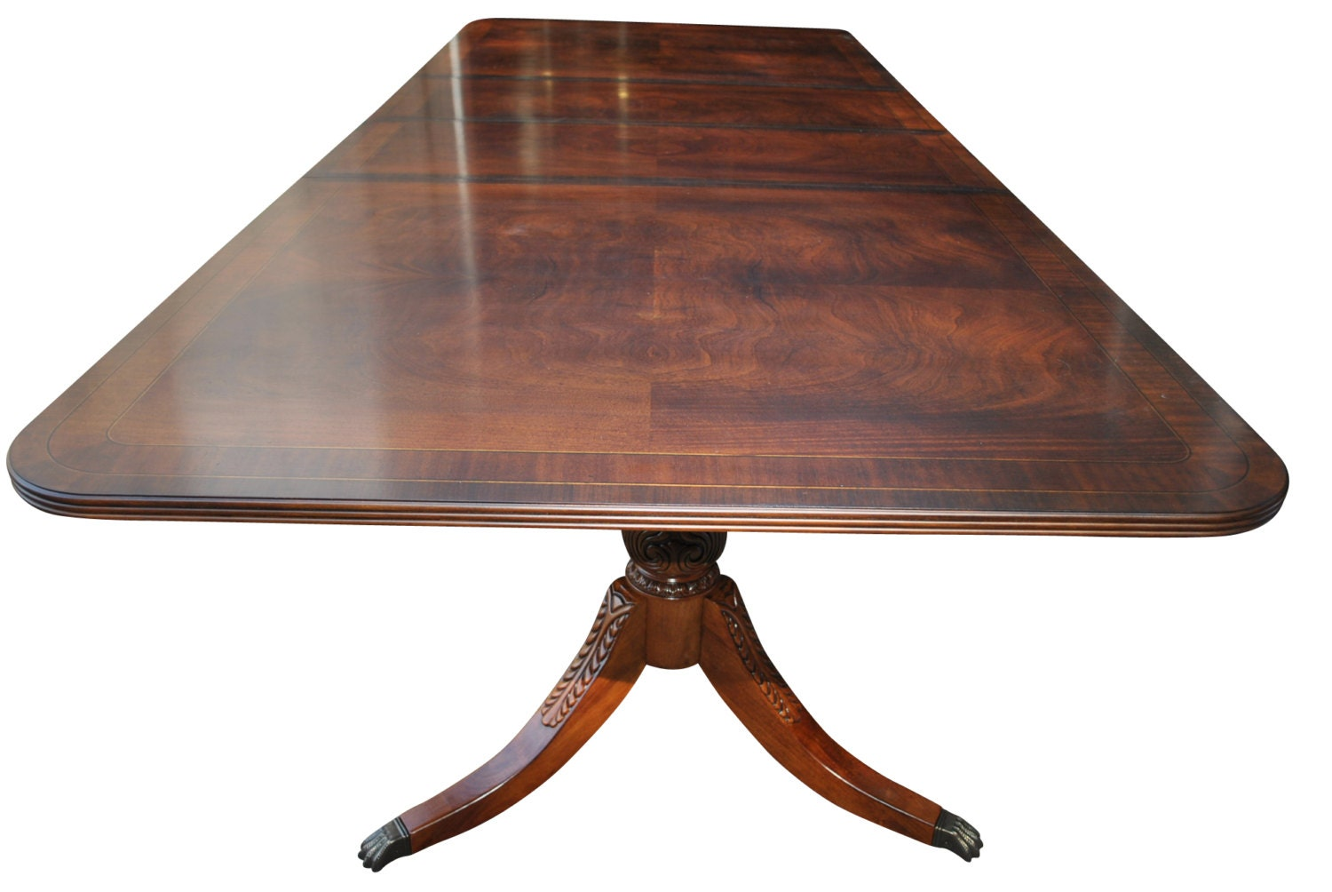 New unused large hekman mahogany dining table new orleans for 10 foot long table