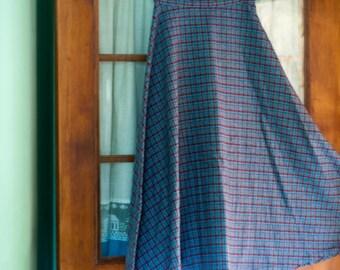 Pin-Up Plaid Wool Circle Skirt