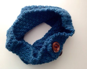 Recycled Wool Chunky Knit Cowl, Wool Cowl, Recycled Knit, Chunky Wool Cowl