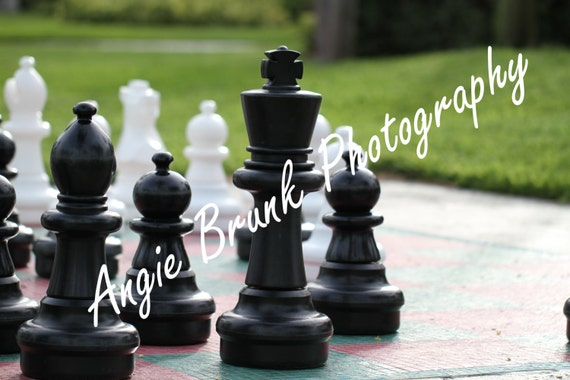 life sized chess board and pieces by brunkphotography on etsy