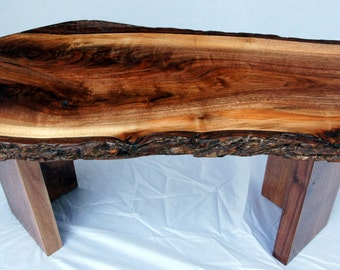 bark coffee table | etsy