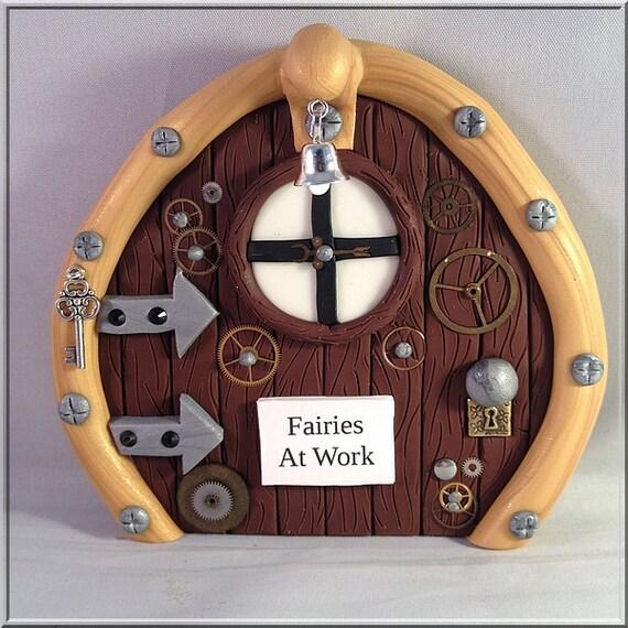 Fairies at work steampunk fairy door for Works elf door