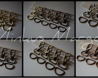 """1.57"""" Swivel Hooks Lobster Clips w/ Matching D Ring Large 40mm"""
