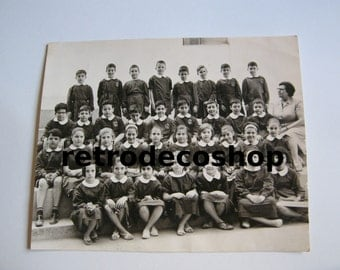 50's Tihopoulou school photo, Athens Greece