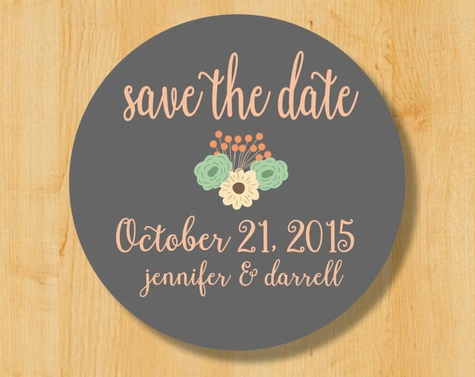 Save the Date Stickers | Bridal Stickers | Wedding Sticker Labels | Wedding Stickers for Favors