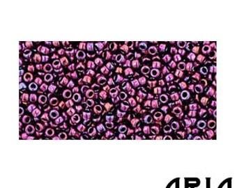 HIGH METALLIC BURGUNDY Iris (503): 15/o Toho Japanese Seed Beads (10 grams)
