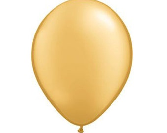 """Top Quality 11"""" inch GOLD Latex Balloons, 12 Count"""
