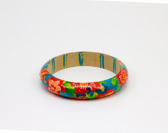 Hand Painted Bouquet Bangle