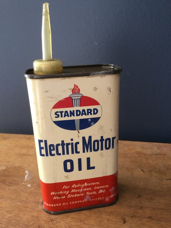 Vintage standard electric motor oil tin half pint for Wholesale motor oil prices