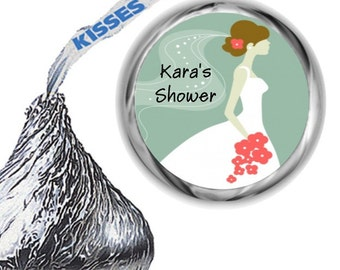 216 Green Bridal Shower Hershey Kiss Sticker