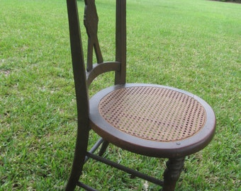 Antique Wood Chair, Cain Seat Chair, Furniture, Wood Chair, Dinning Chair, Victorian chair, Side Chair