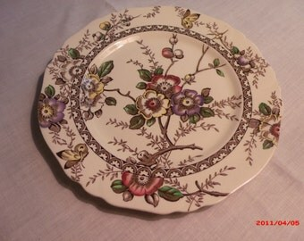 Alfred Meakin Medway Brown Decor England Plates (4)