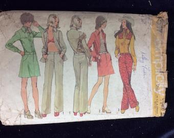 Vintage Simplicity Ladies Activewear Pattern # 5517 Sz. 8 Uncut