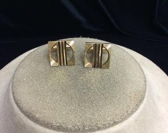 Vintage Mens Goldtone Cuff Links