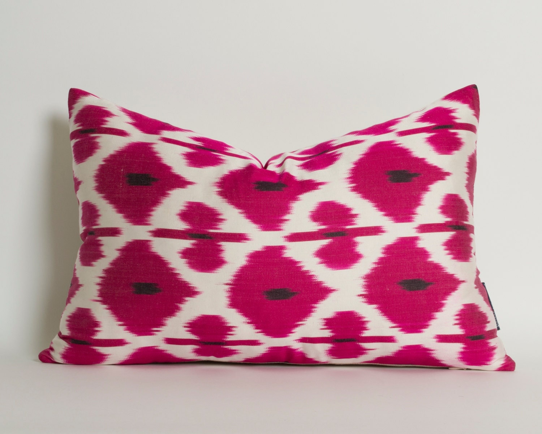 Pink Decorative Pillow Covers : Pink Ikat Pillow Cover Decorative Pillows For Couch by pillowme
