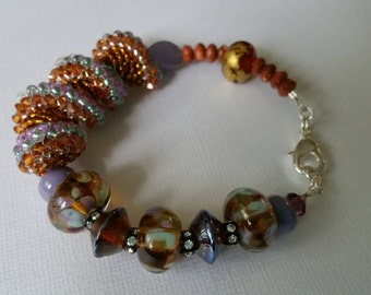 Amber Fields Beaded Bracelet