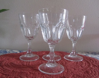 Set of four Stemware with octagon shaped Stem   LOT A-29