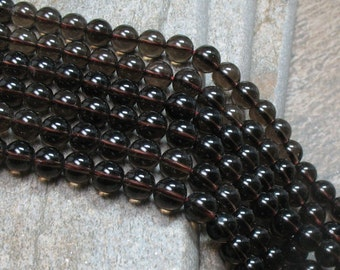 Smoky Quartz Beads - 8 mm - full strand - Item B0074