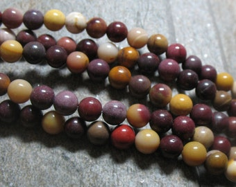 Mookaite Beads, 6 mm - Full strand - Item B0194