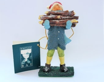 Vintage Whitley Bay Elf Collection The Story of Woody  Hand Painted Porcelain Figurine